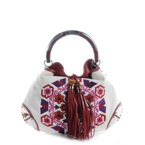Gucci Embroidered Indy Large Hobo by Gucci Canvas Embroidered Large Indy Hobo 59930