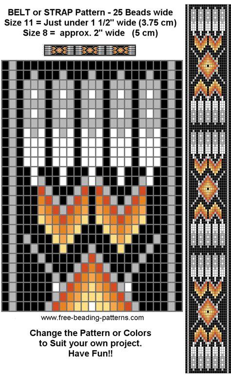 free beading pattern regalia belt black
