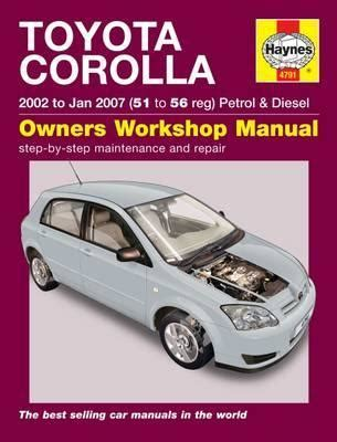 service manuals schematics 1993 toyota corolla user handbook toyota corolla 02 jan 07 51 to 56 peter t gill 9781844257911