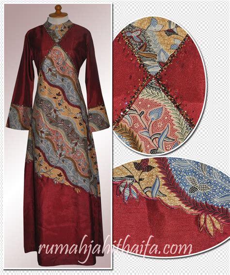 model jahitan batik modern gamis batik kombinasi polos gamis polos kombinasi batik
