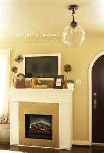 Decorated Fireplace Mantels For by Framed Tv Home Decor