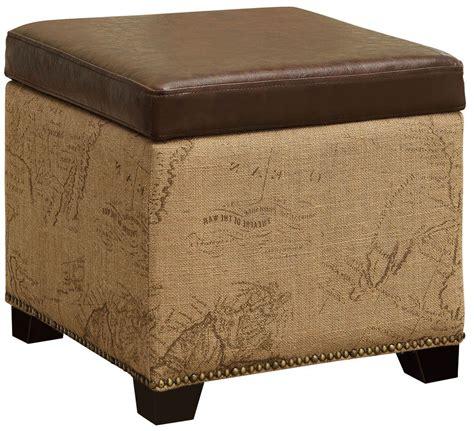 Vintage Storage Ottoman Kenya Antique Vintage Brown Storage Ottoman Lc5007otvb Armen Living