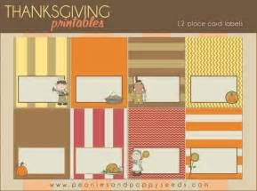 free thanksgiving printable place cards turkey day