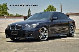bmw e60 5 series rides on f10 m5 replica wheels