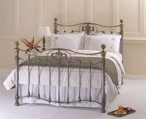 Metal Bed Frames Uk Obc Camolin 6ft Kingsize Silver Patina Metal Bed Frame By Original Bedstead Company