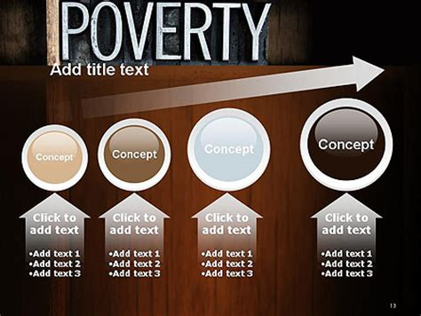 Word Poverty Powerpoint Template Backgrounds 14256 Poweredtemplate Com Poverty Powerpoint Template