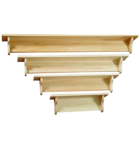 Best Shelf by 24 60 Inch Narrow Top Wall Shelf Plain Burr S Unfinished Furniture Bryan Tx