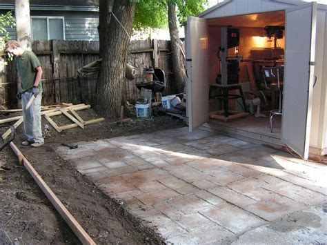 Pour Your Own Concrete Patio by Do It Yourself Cement Patio