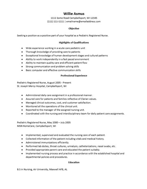 pediatric resumes madrat co