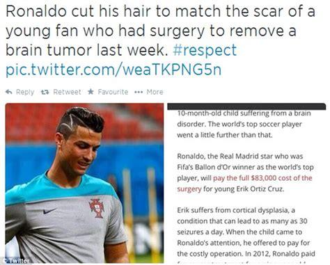 haircuts respect was cristiano ronaldo s new zig zag haircut a tribute to a