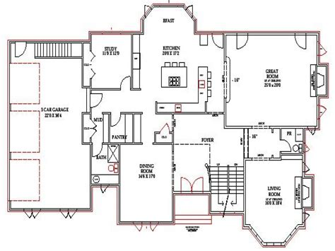 open floor house plans with walkout basement lake home floor plans lake house plans walkout basement