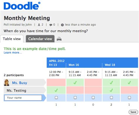 doodle poll for scheduling meetings free tools for scheduling your next meeting