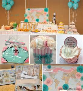 my travel themed bridal shower perpetually daydreaming