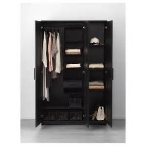 brimnes wardrobe with 3 doors black 117x190 cm ikea