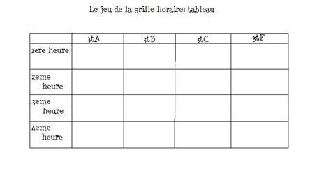 Grille Horraire by Le Jeu De La Grille Horaire Page 2