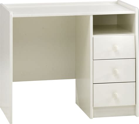 steens for pedestal desk in solid plain white