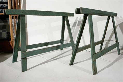Sawhorse Worktable 1940s Industrial Sawhorse Work Table Legs At 1stdibs