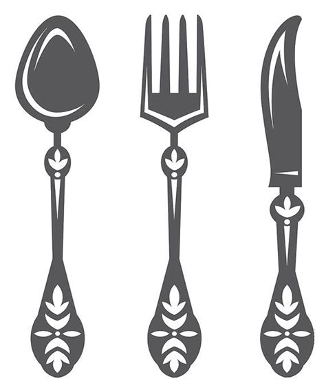 kitchen forks and knives kitchen wall decal spoon knife fork wall decal dining