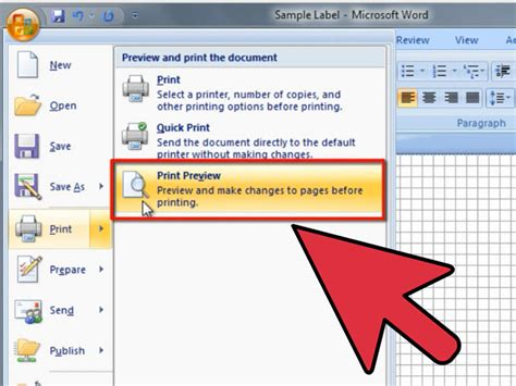 how to set up label template in word how to create labels in microsoft word wikihow