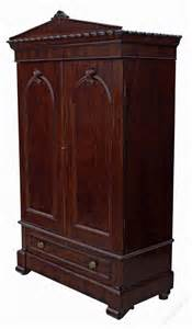 william iv mahogany armoire wardrobe linen press