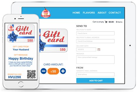 Best E Gift Cards - electronic gift certificates for small businesses best business cards