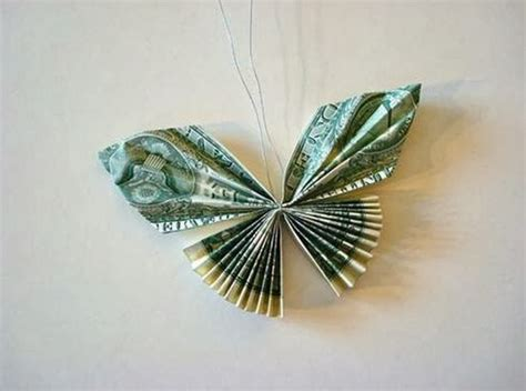 Origami Money Butterfly Folding - diy money butterfly origami the idea king