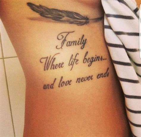 one love family tattoo family where begins and never ends tattoos