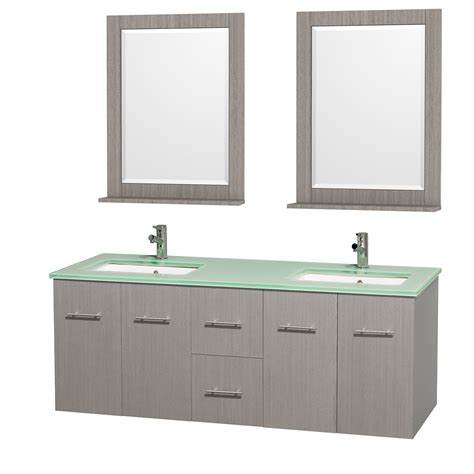 green vanity bathroom wyndham collection wcvw00960dgoggunsm24 centra 60 inch double bathroom vanity in gray