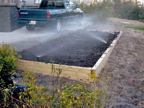 Irrigation for raised garden bed   Raised Garden Ideas