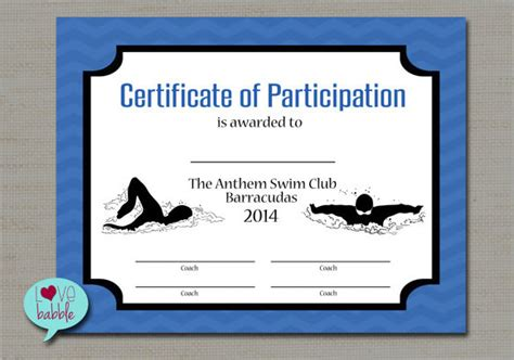swimming award certificate template swimming certificates templates 28 images 30 free