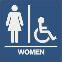 premium ada compliant restroom signs with braille