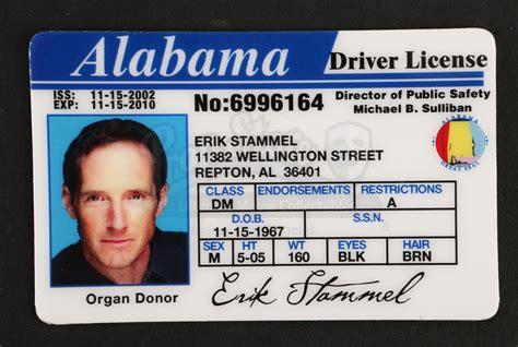 alabama id card template alabama drivers license test