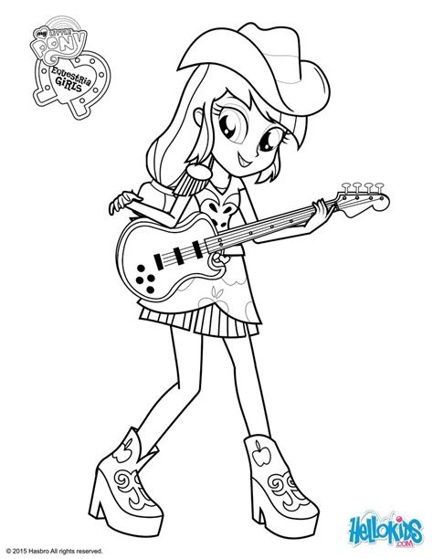 free coloring pages applejack applejack coloring pages hellokids com