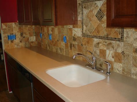 porcelain kitchen sink with backsplash porcelain 4x4 kitchen tile backsplash with accent