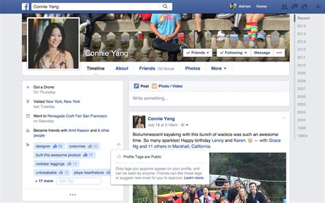 biography for facebook page facebook is testing new tags for your profile page