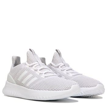 adidas cloudfoam ultimate k running shoe pre grade school white grey