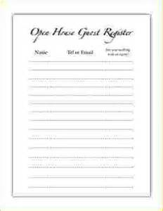 open house sign in sheet printable open house sign in