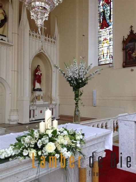 Church Wedding Decorations   Altar Flowers    Pinteres