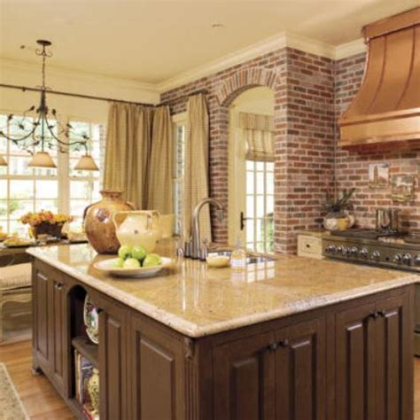 brick kitchens 74 stylish kitchens with brick walls and ceilings digsdigs