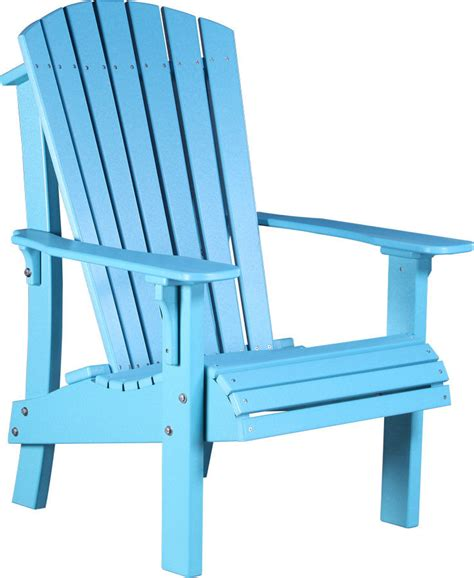 Blue Adirondack Chair by Poly Lumber Comfort Height Deluxe Adirondack Chair Amish