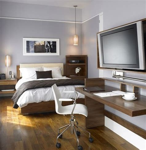 Design Home Office In Bedroom Masculine Bedroom With Office Design