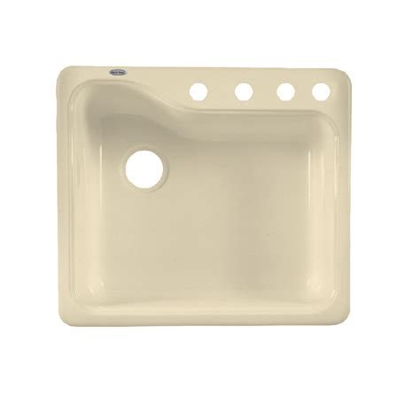 porcelain undermount kitchen sink shop american standard silhouette single basin drop in or undermount porcelain kitchen sink at