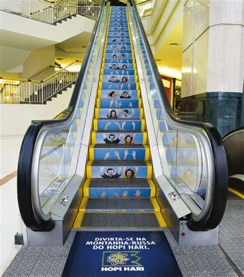 theme park advertisement clever and creative escalator advertising