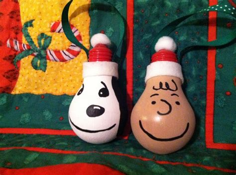 snoopy light bulb ornament brown and snoopy light bulb ornaments