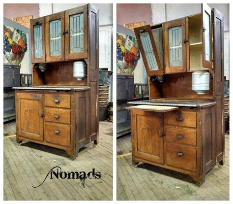 Antique Kitchen Cabinets With Flour Bin by Antique Oak Hoosier With Flour Sifter Cabinet Storage