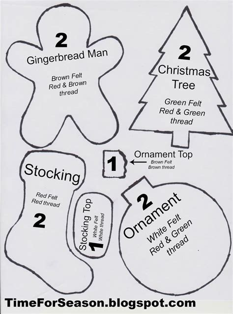 Resultado De Imagen Para Sewing Trees Templates Felt And Foamy Pattern Pinterest Plastic Templates For Felt Ornaments