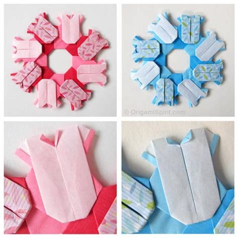 Origami For Babies - origami wreaths to celebrate a baby or