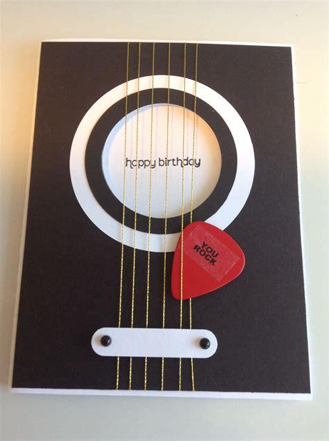 printable birthday cards with guitars handmade birthday cards
