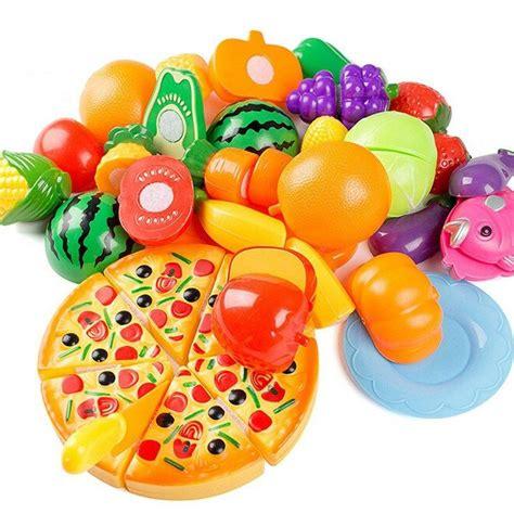 cuisine plastique jouet 24pcs coupe jouet cuisine dinette fruit plastique enfant