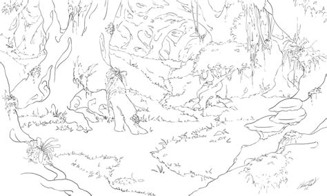 rainforest background coloring page forest background coloring coloring page coloring pages